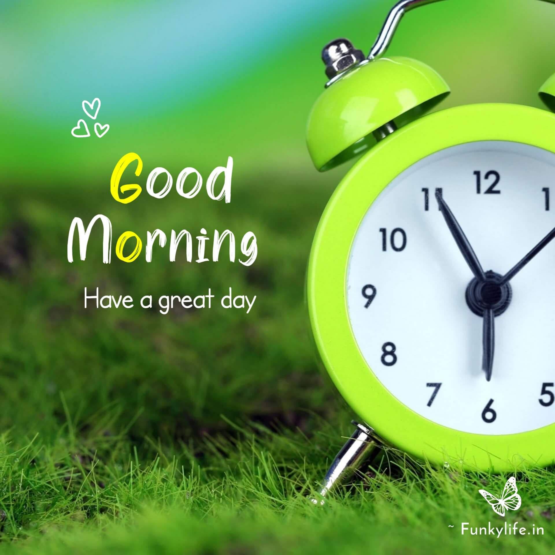 Green background good morning Images