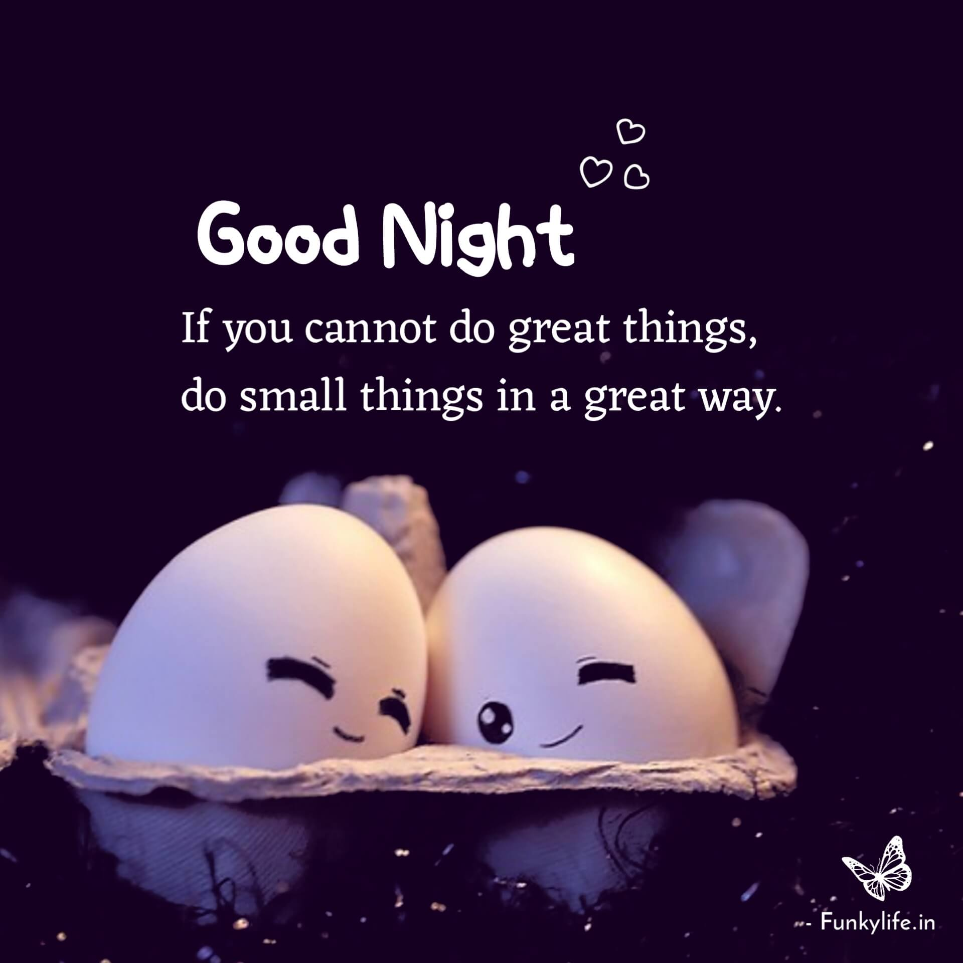 Good Night With Quotes Photo