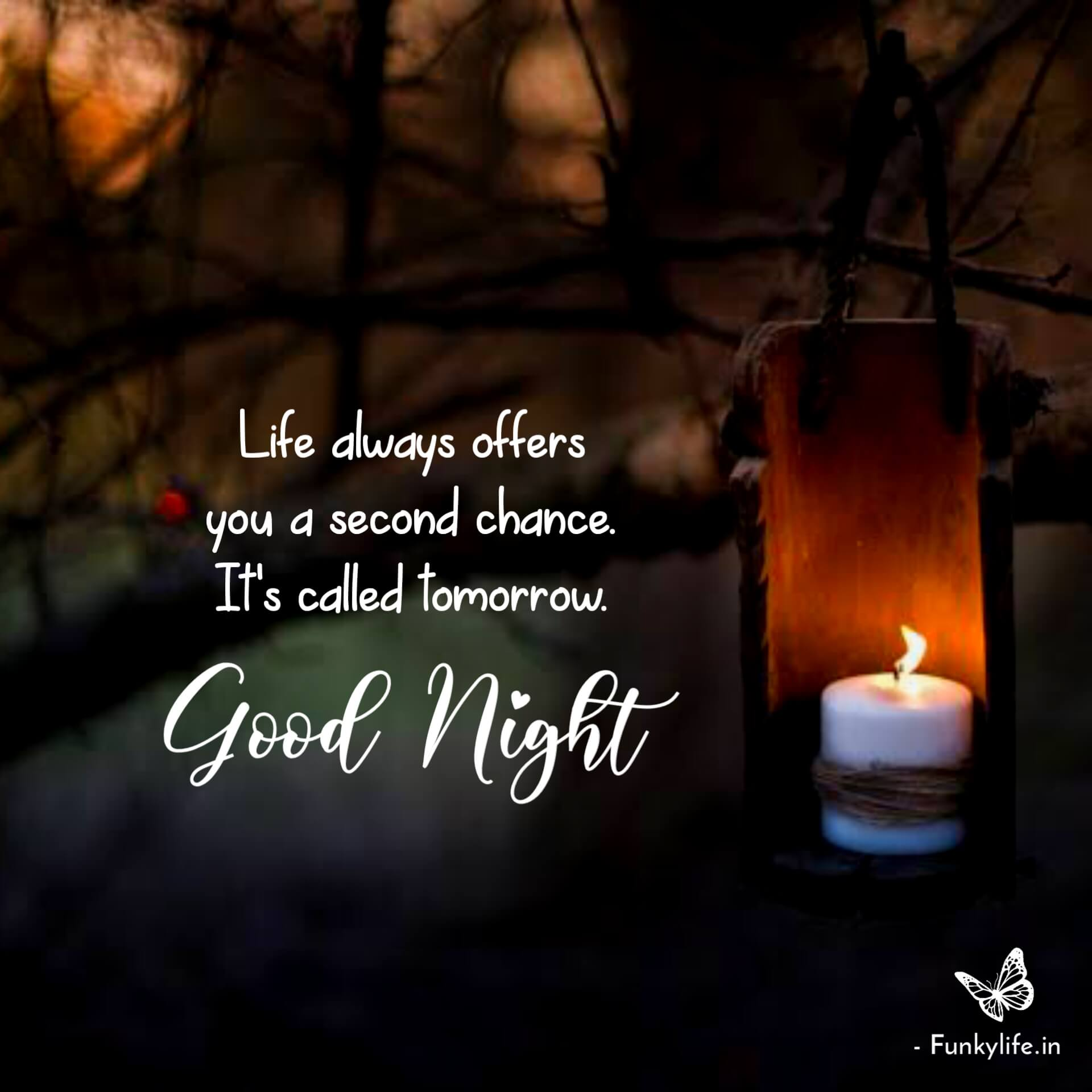 good night with quotes pictures