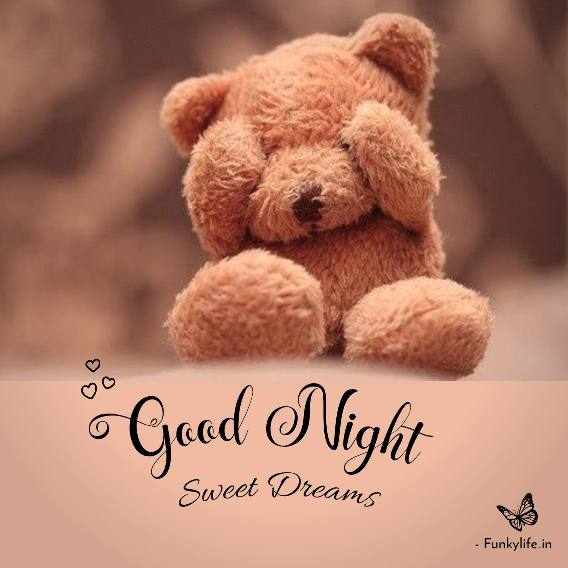 Good Night with teddy bear images