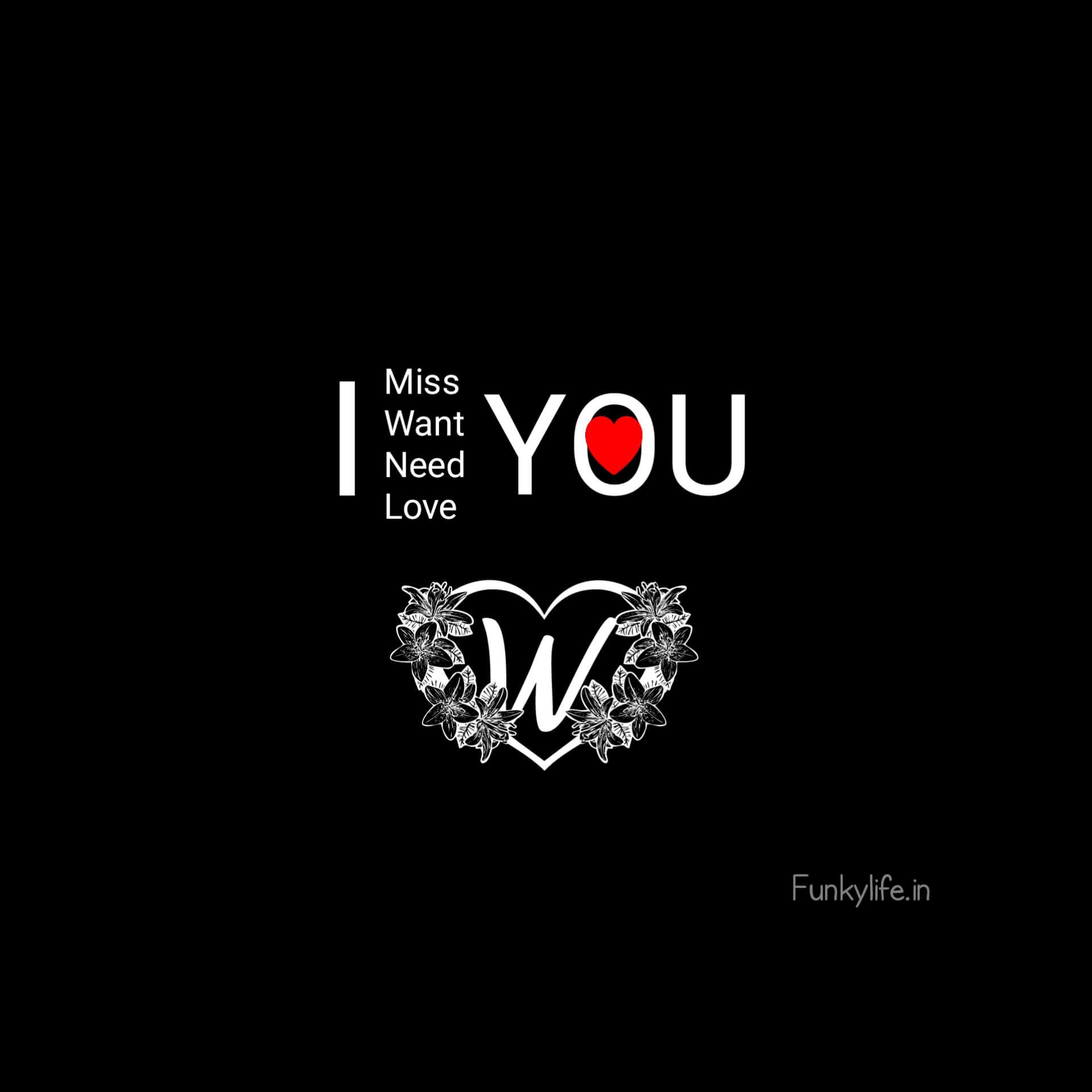 W Letter Love WhatsApp DP