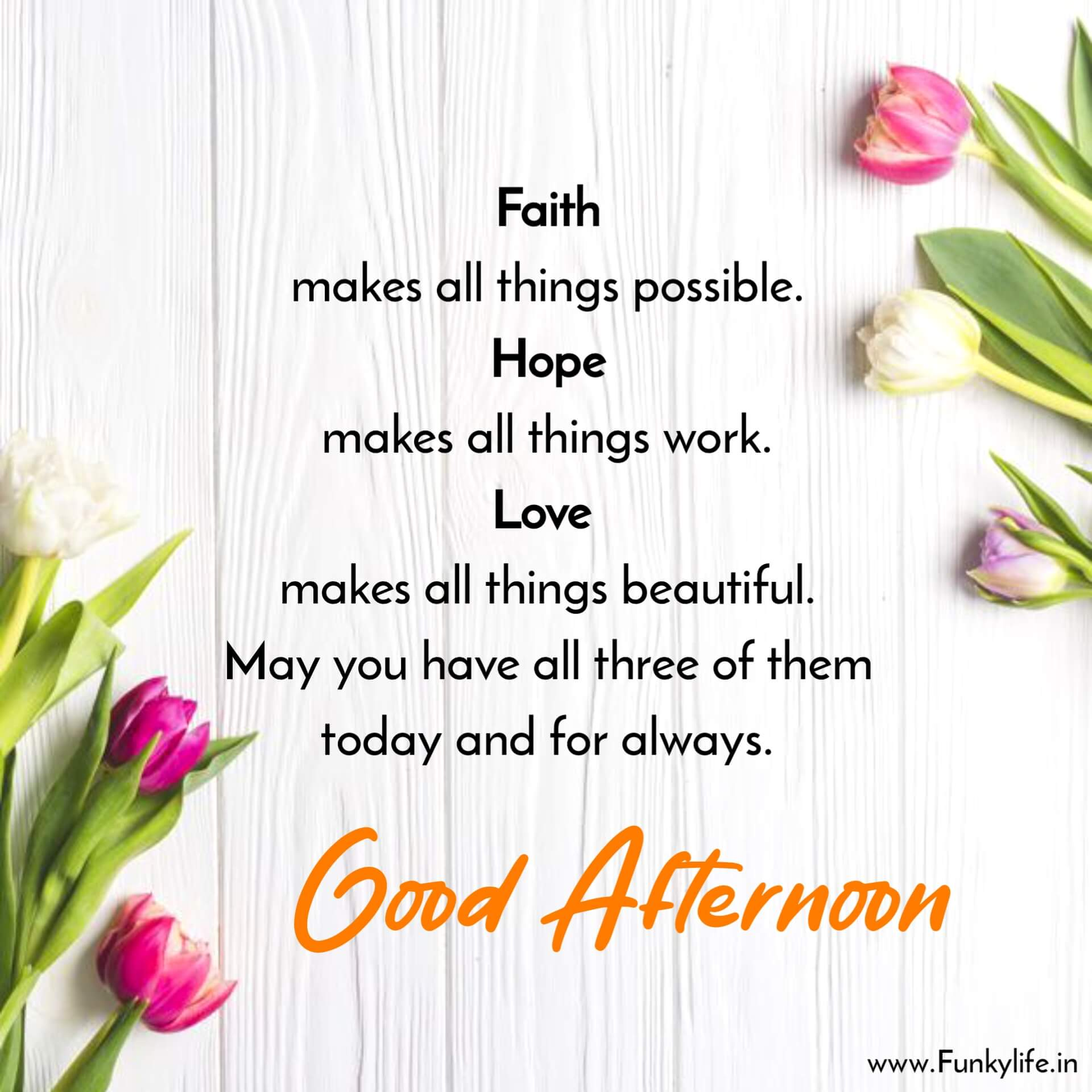 Beautiful Good Afternoon Image with Quote