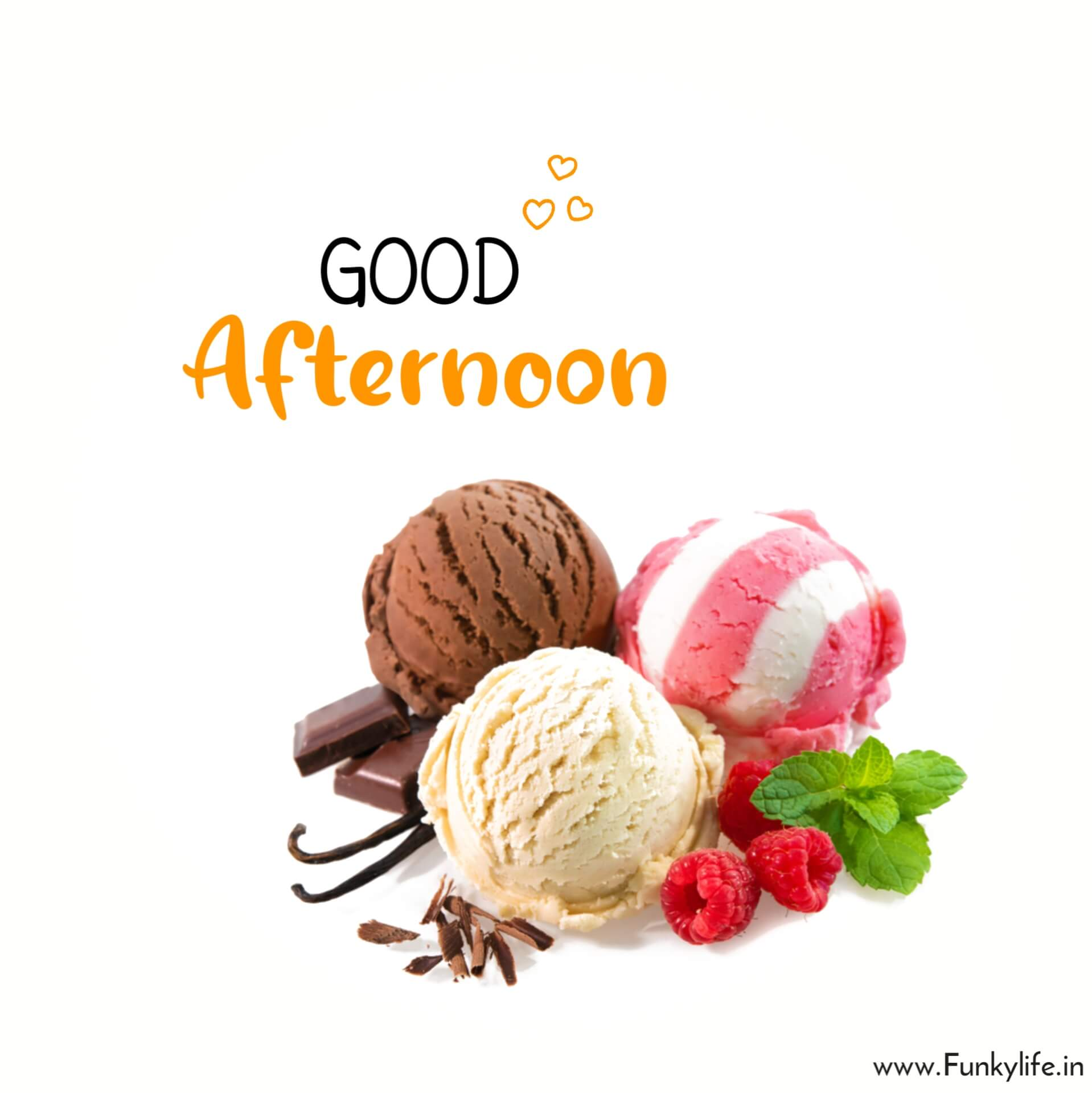 Ice Cream Good Afternoon Images