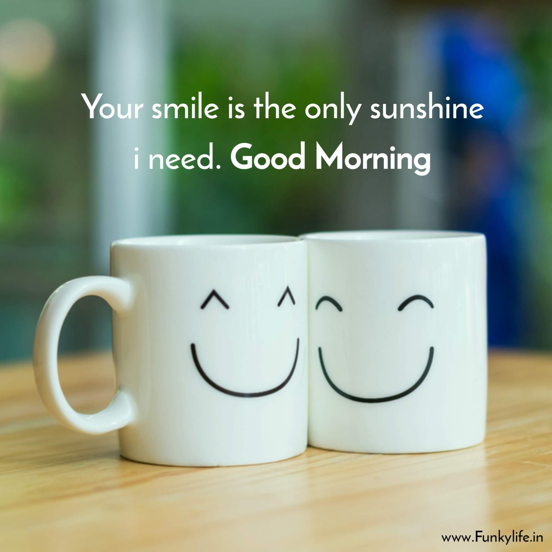 Smiling Cups Good Morning SMS