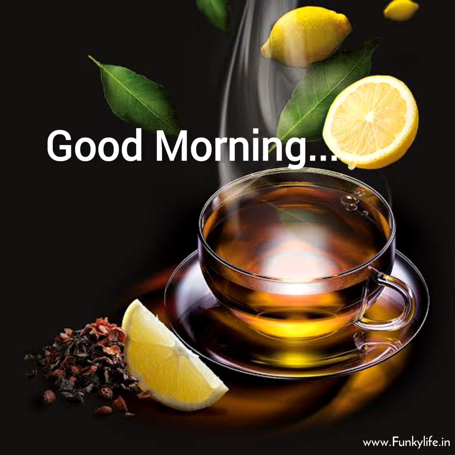 Lemon Tea Good Morning Image
