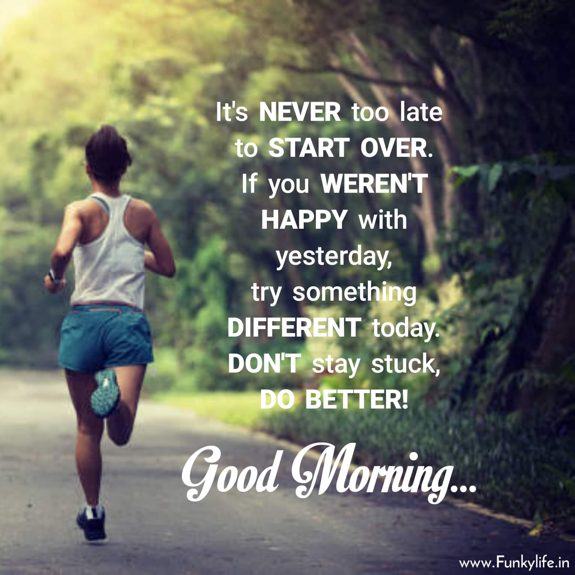 Inspirational Good Morning Image with Quote For WhatsApp