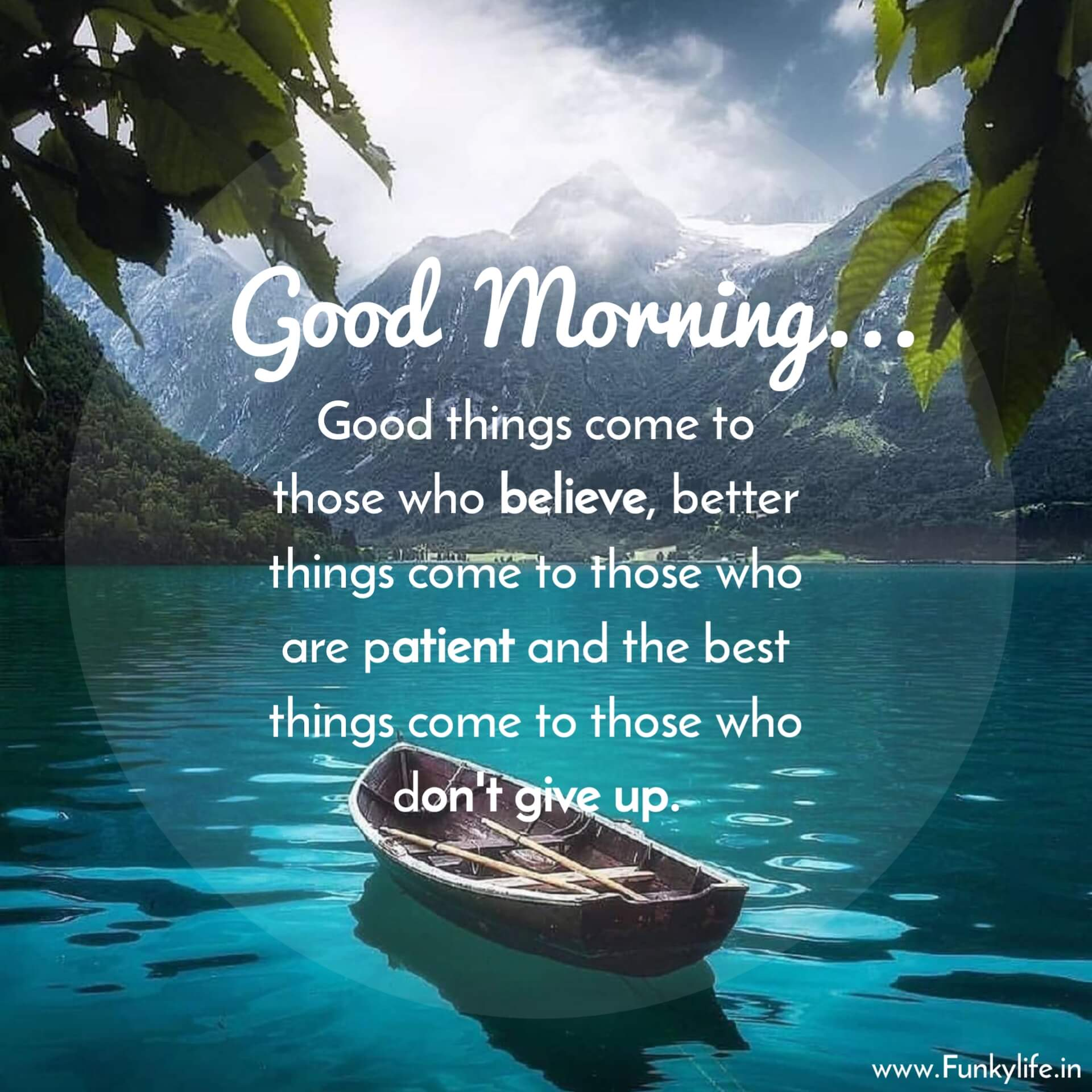 Good Morning Image with Quote For WhatsApp