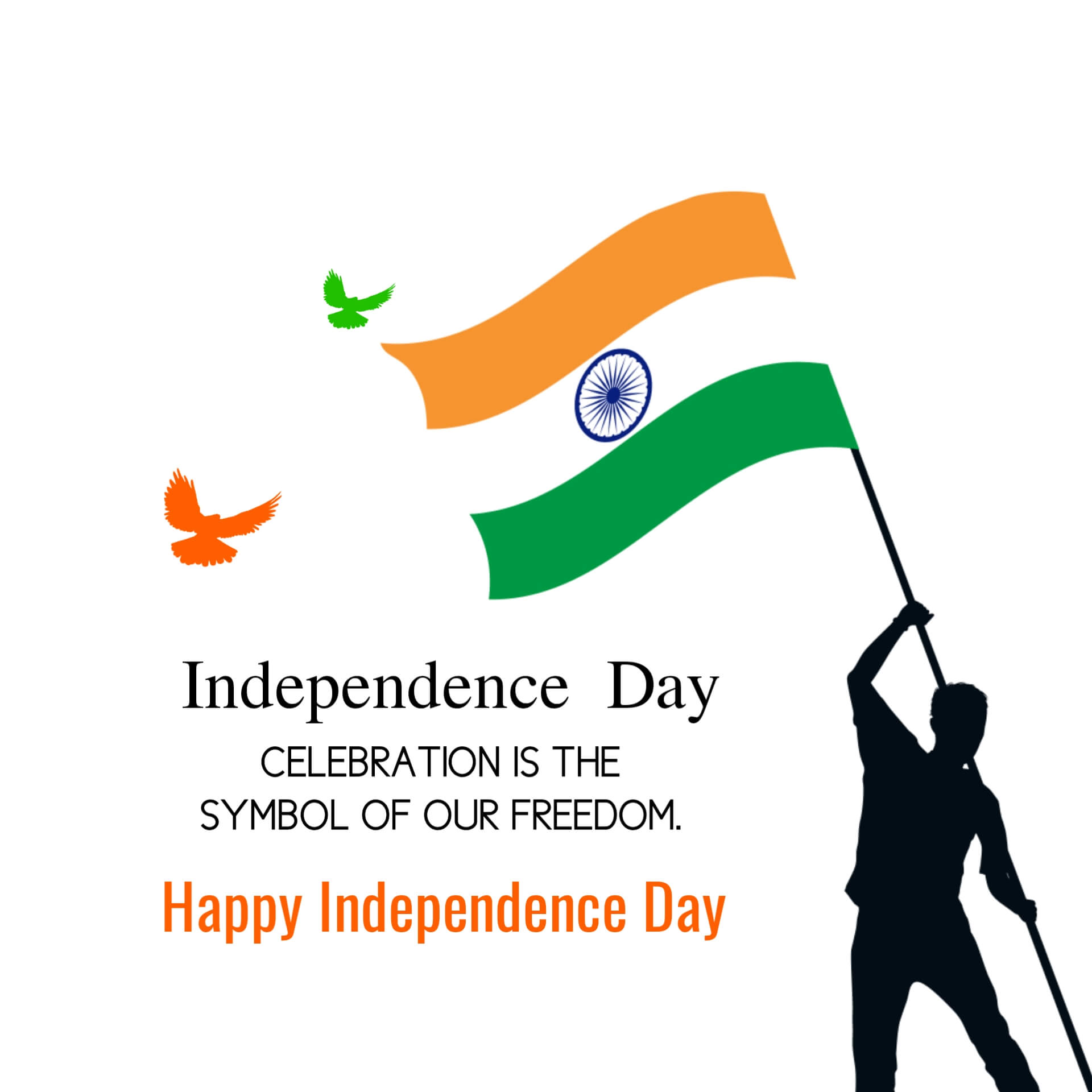 India Independence Day Image with Quotes