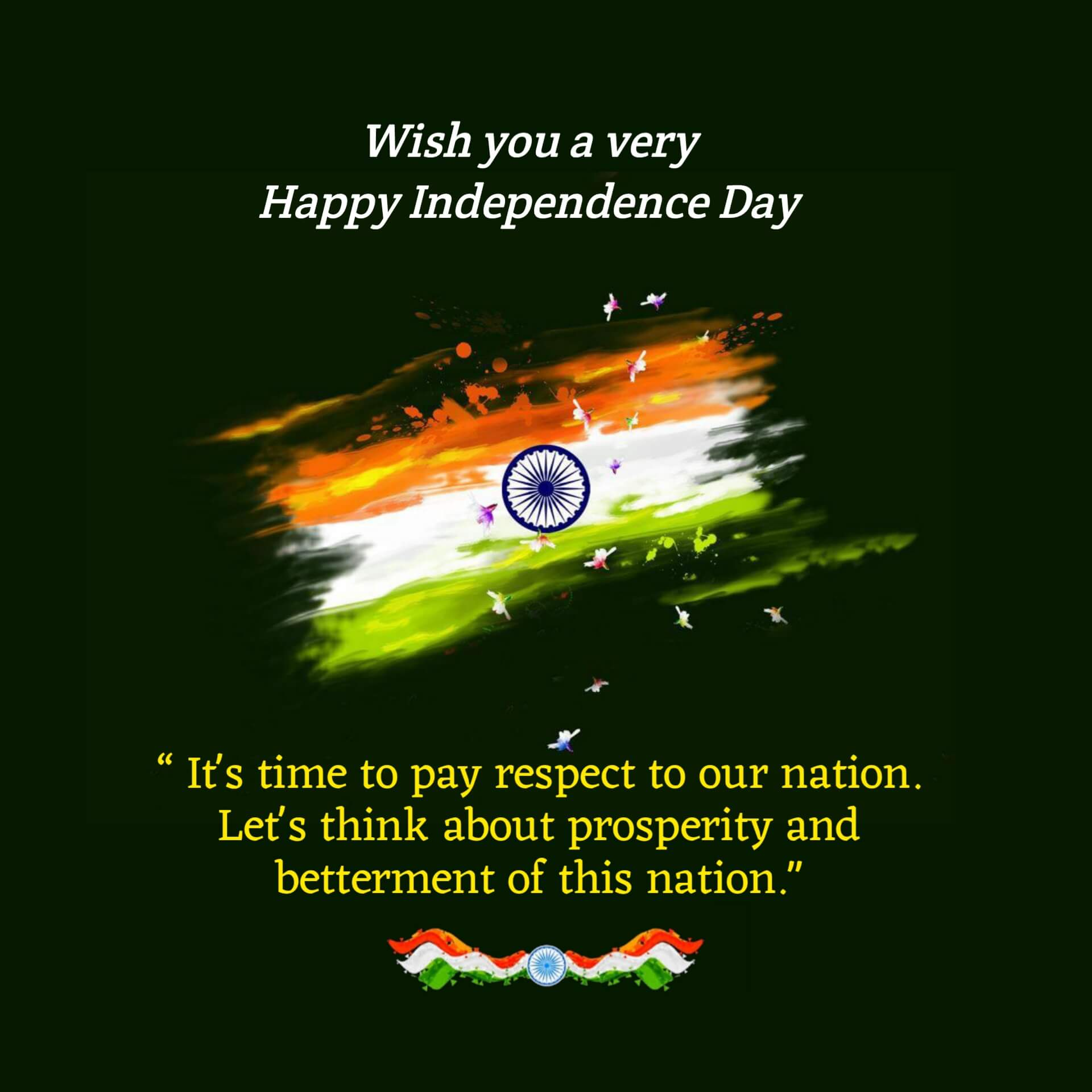 India Independence Day Wishes Image
