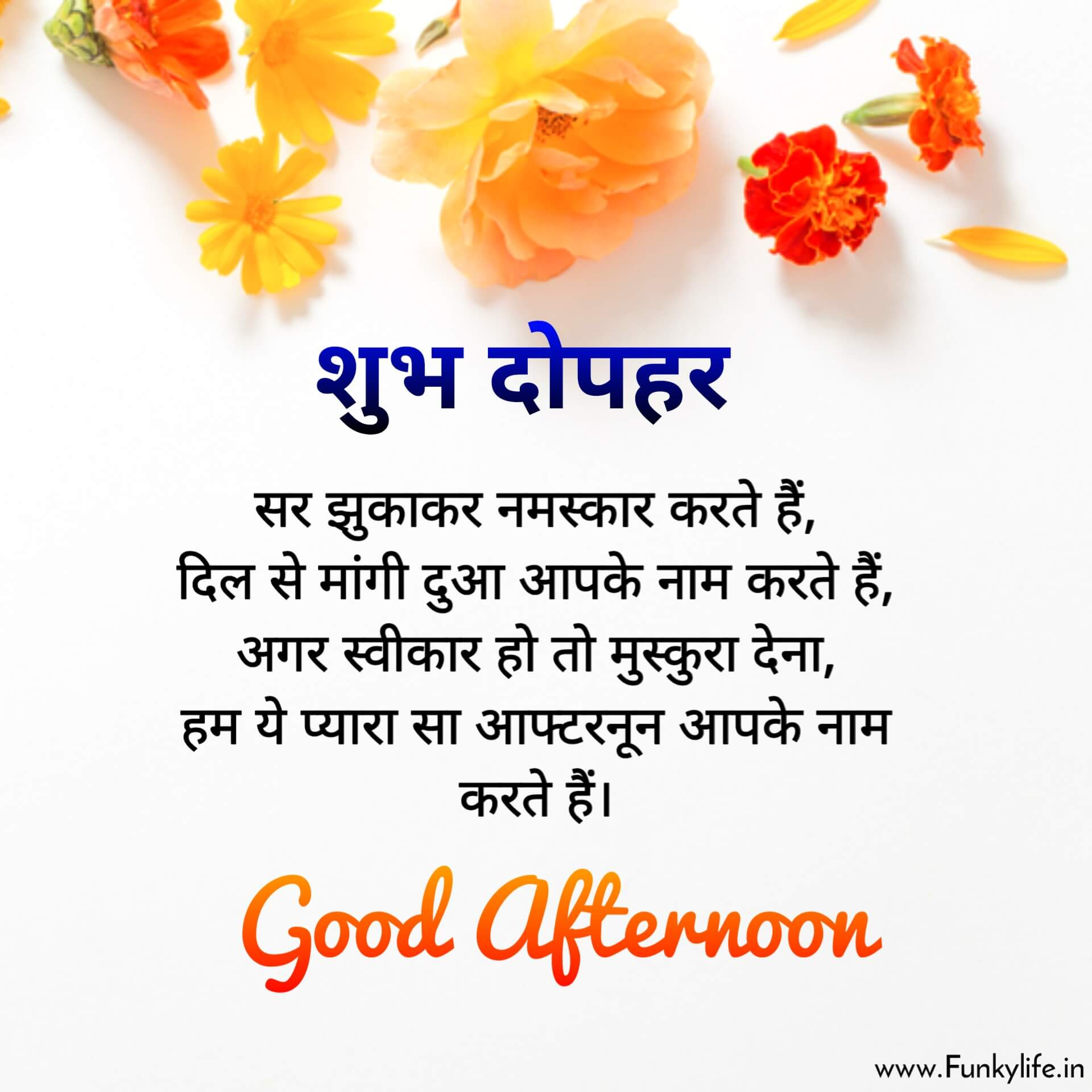 Shubh Dopahar Good Afternoon Image With Quote in Hindi