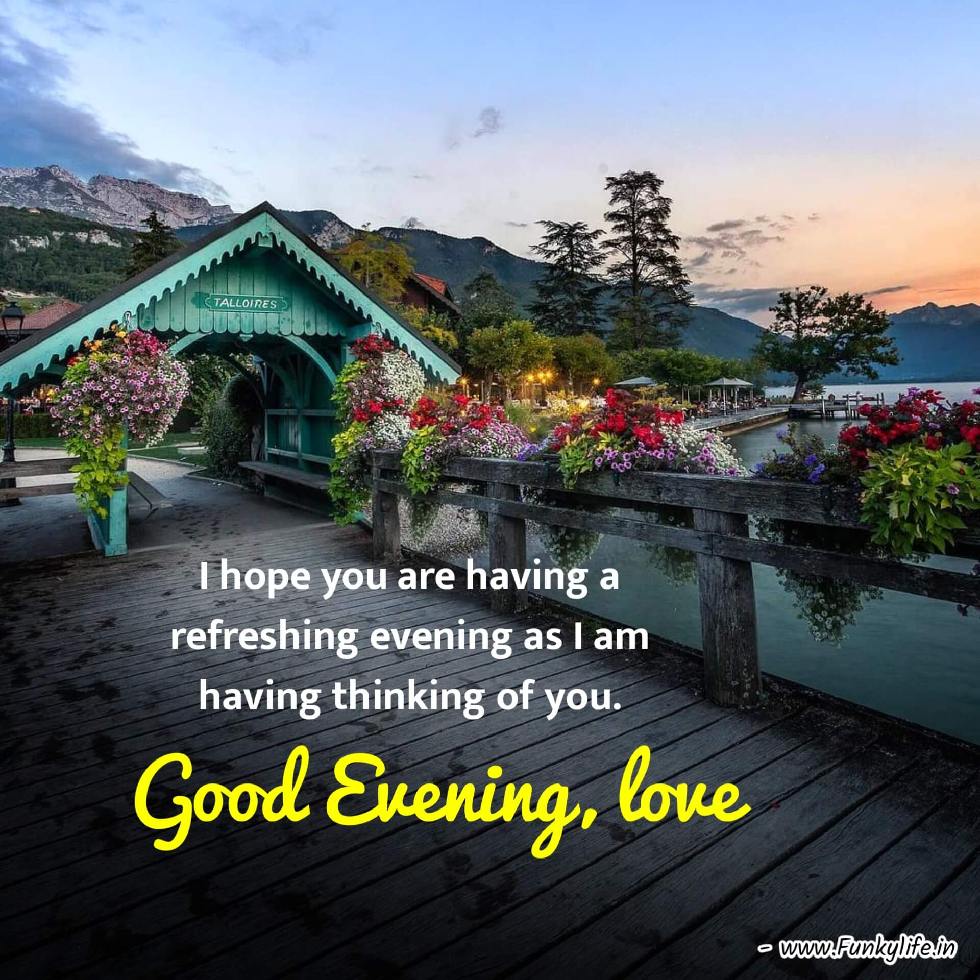 Wishes Good Evening Images with Quotes