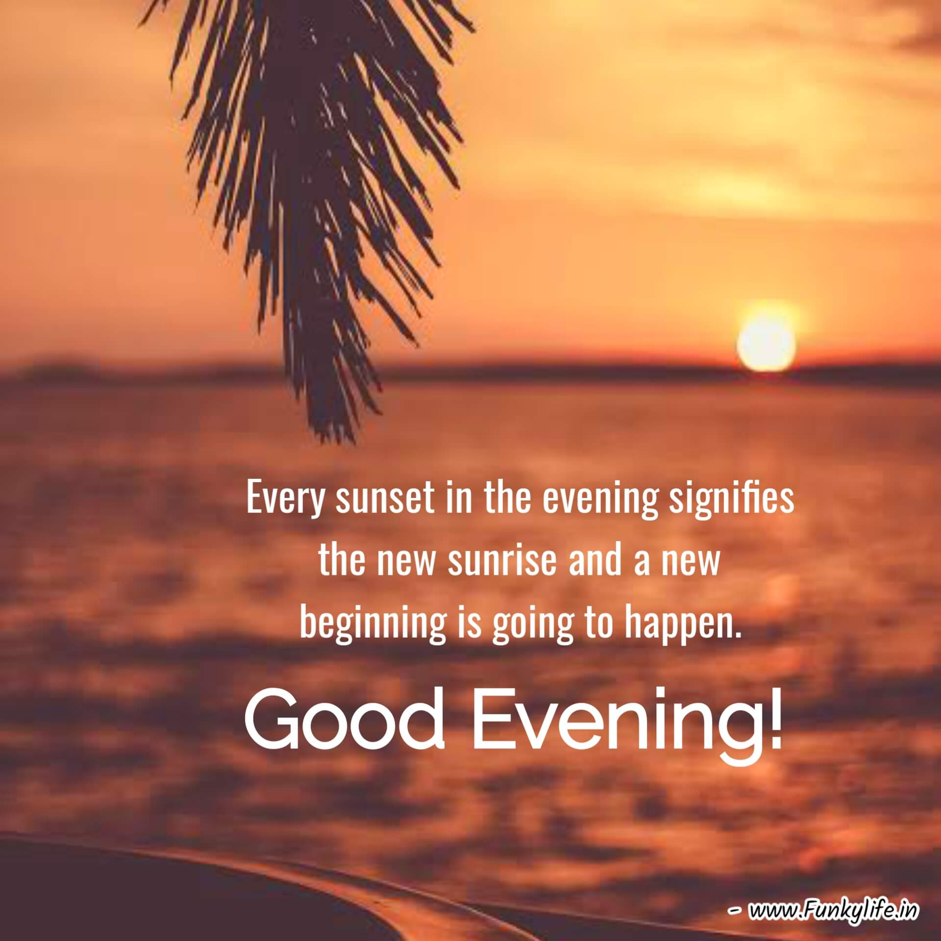 Sunset Good Evening Images with Quotes