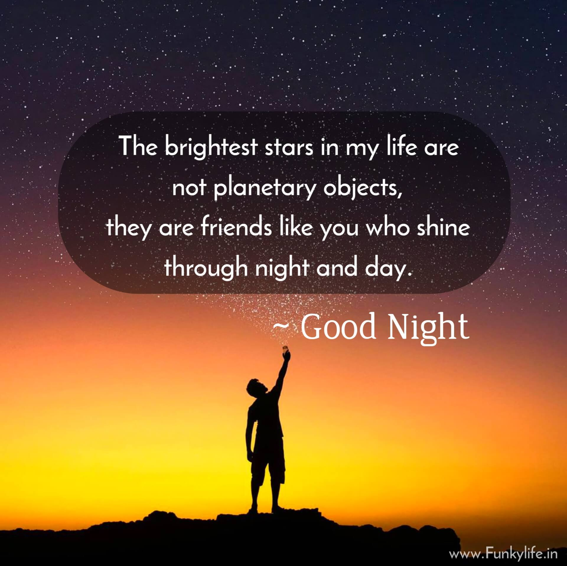 Friends Good Night Quotes with Images