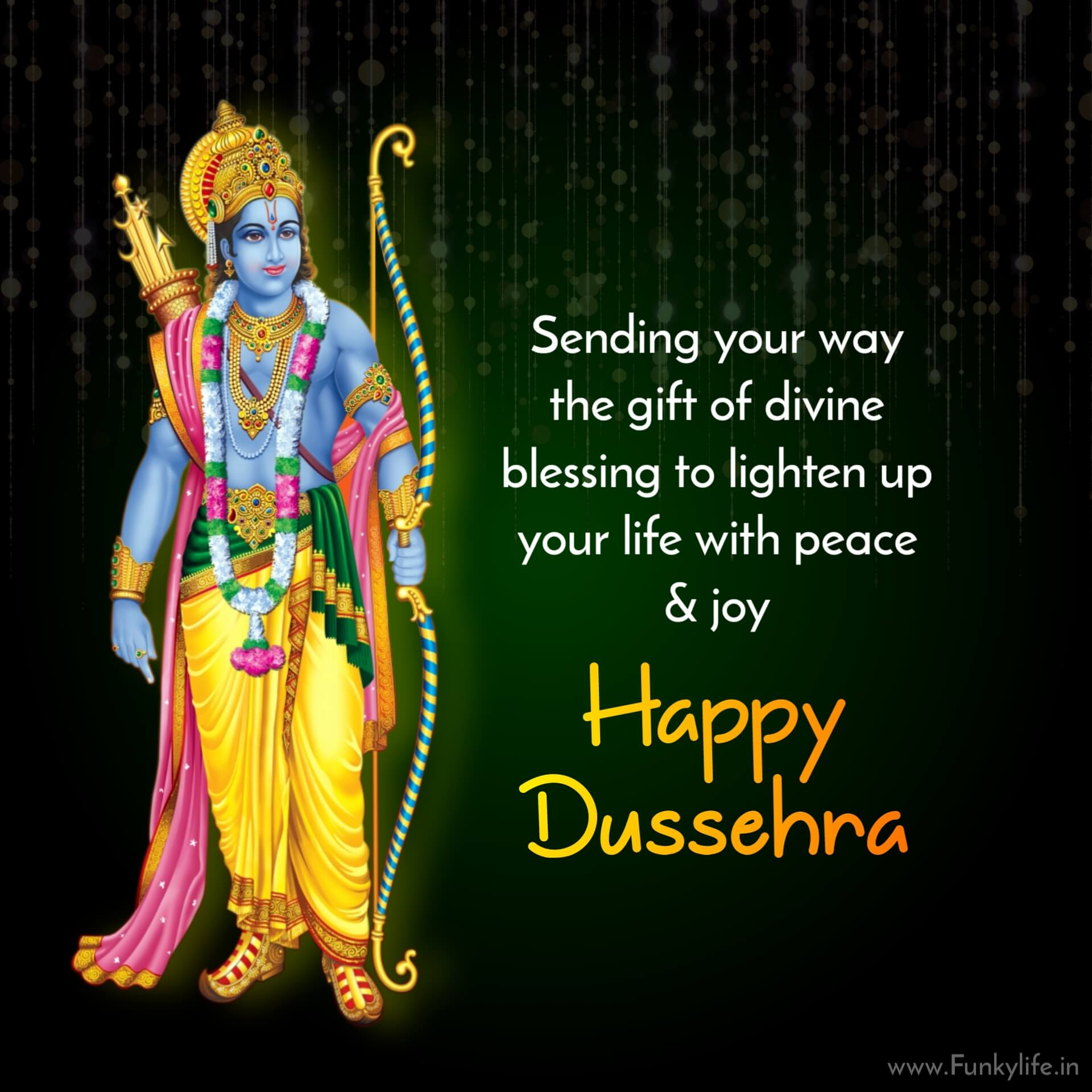Happy Dussehra wishes blessings Pic